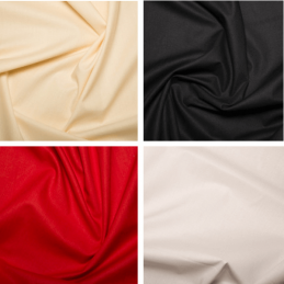 Plain Coloured 100% Cotton 68 Pick Sheeting Fabric 235cms Wide