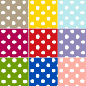 Vinyl PVC Tablecloth Large Polka Dot Pattern Oilcloth 140cm Wide