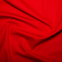 100% Plain Cotton Poplin Fabric Rose & Hubble Bright Red