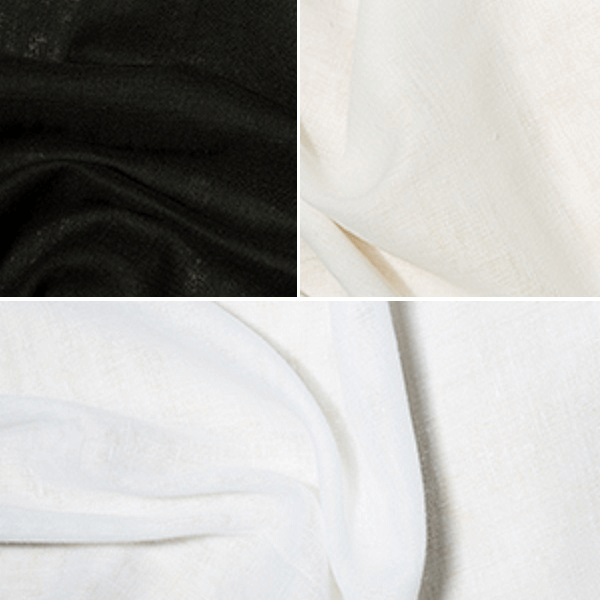 Black Fire Retardant Muslin Fabric  100% Cotton