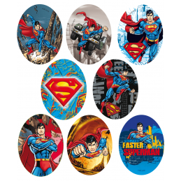Warner DC Comics Superman Oval Patches Woven Iron / Sew On Motif Applique
