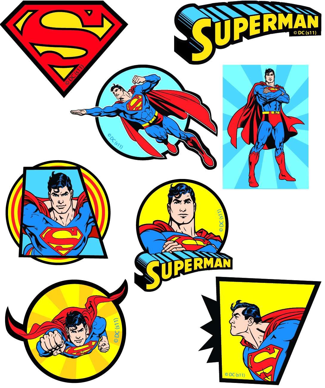 DC Superman Warner Bro's Patches Woven Iron / Sew On Motif Applique