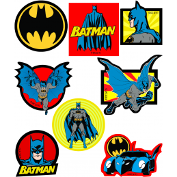 DC Batman Warner Bro's Patches Woven Iron / Sew On Motif Applique