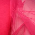 Dress Net Tutu Mesh Tulle Fancy Fairy Bridal Petticoat Material Fabric Flo Cerise