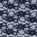 Navy Corded Lace Fabric Raschelle