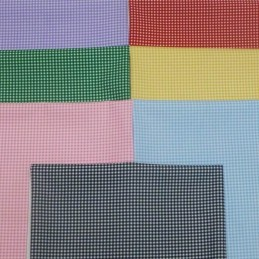 100% Cotton Poplin Fabric Rose & Hubble Mini Check Gingham