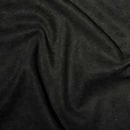 Black Polyester Faux Suede High Quality Dress Fabric 150cm Wide