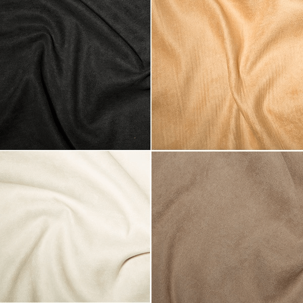 Stone Polyester Faux Suede High Quality Dress Fabric 150cm Wide