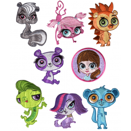 Littlest Pet Shop Patches Woven Embroidery Iron / Sew On Motif Applique