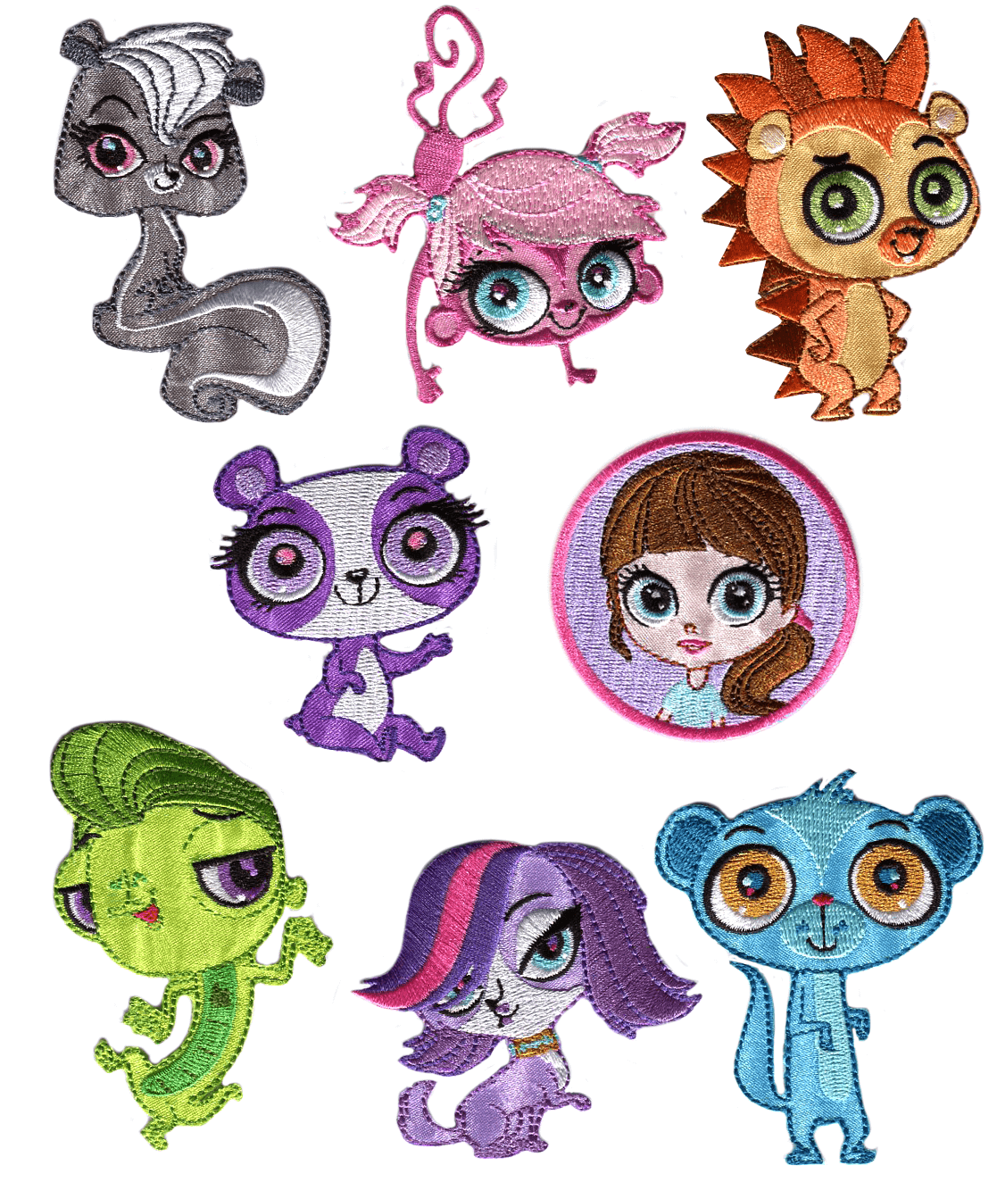 Littlest Pet Shop Patches Woven Iron / Sew On Motif Applique