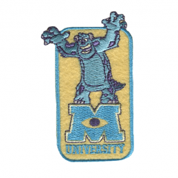 Monsters Inc University Woven Embroidery Iron On Motif Patch Applique