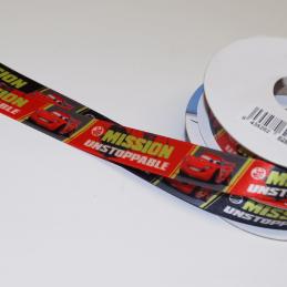 1 Metre Disney Cars Lightning McQueen Unstoppable 15mm Satin Craft Ribbon
