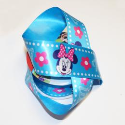 1 Metre Disney Minnie Mouse Spots Floral 38mm Satin Craft Ribbon
