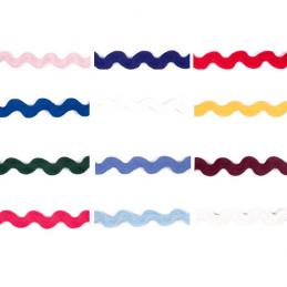 2m x 15mm Polyester Ric Rac Braid Essential Trimmings Zig Zag Ribbon