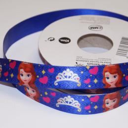 1 Metre Disney Sofia The First Princess 15mm Satin Craft Ribbon
