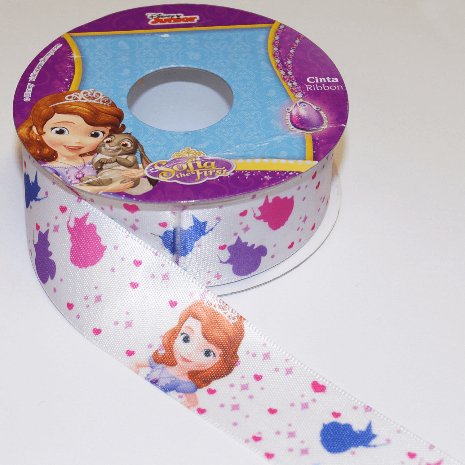 1 Metre Disney Sofia The First Princess 25mm Satin Craft Ribbon