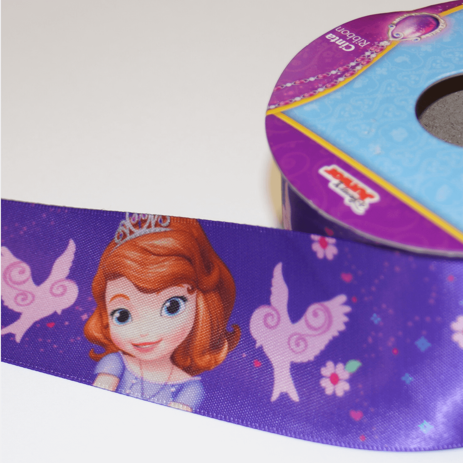 1 Metre Disney Sofia The First Princess 38mm Satin Craft Ribbon