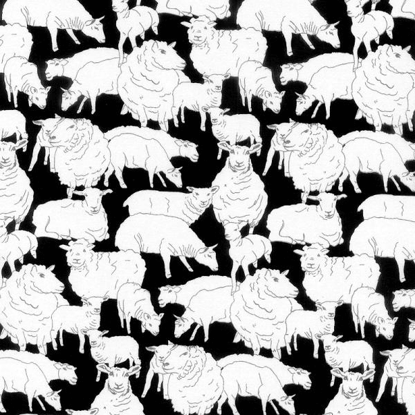 Sheepish Sheep Farm Animal Lamb 100% Cotton Fabric