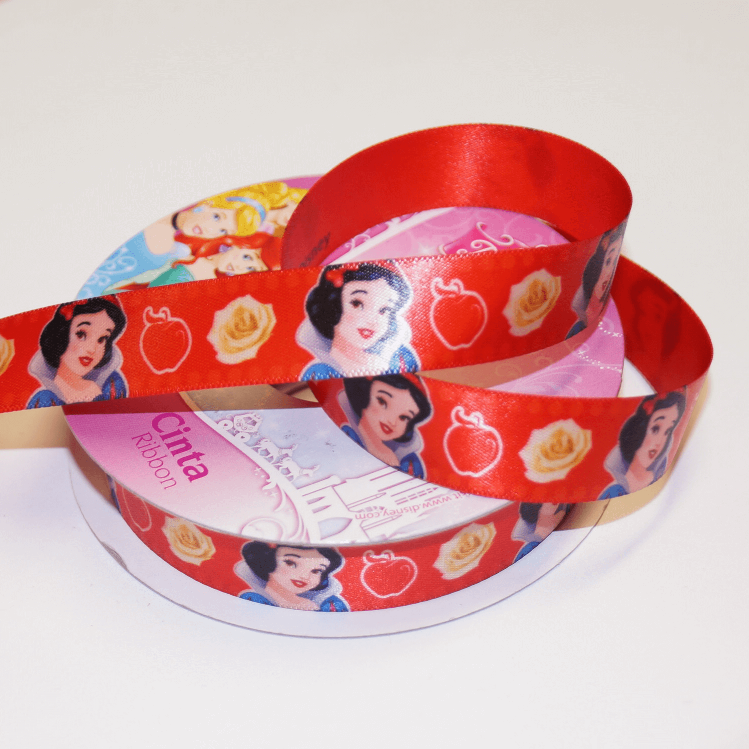 1 Metre Disney Little Mermaid Ariel 15mm Satin Craft Ribbon