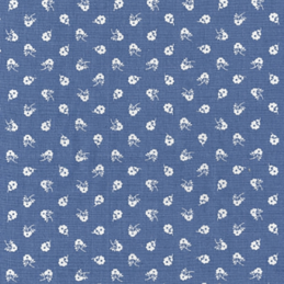 Long Lane Summer Time Flowers Floral 100% Cotton Fabric