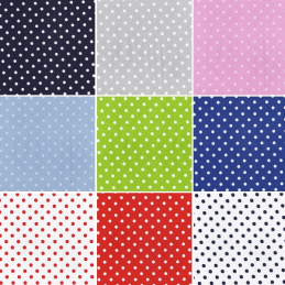 Pea Size Polka Dots Spots 100% Cotton Fabric Patchwork