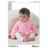 Baby Girls Frill Cardigan and Jumper Sweater Knitting Pattern UKHKA130
