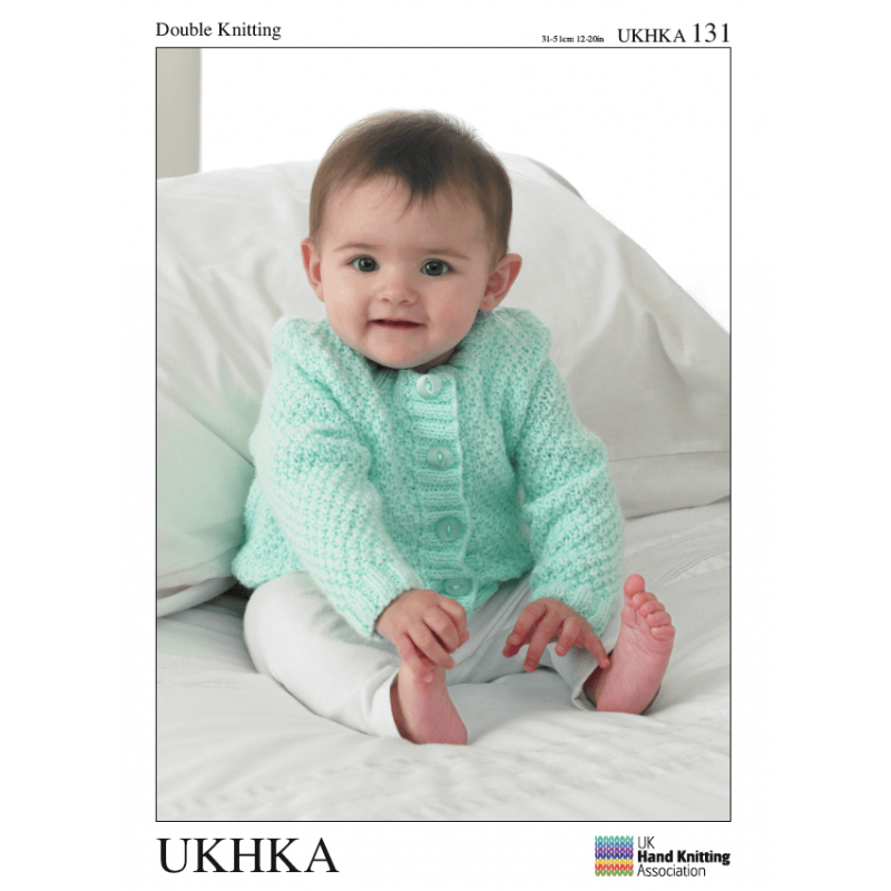 Baby Button Up Cardigans Jackets Mini Diamond Knitting Pattern UKHKA131
