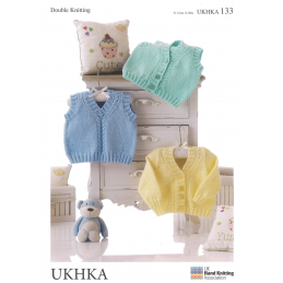 Baby Rope Twist Cable Style Cardigan Jacket Pullover Knitting Pattern UKHKA133