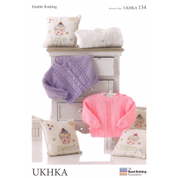 Baby Chevron Knit Design Cardigan Jumper Knitting Pattern UKHKA134