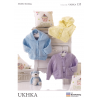 Baby Hooded Jackets and Waistcoat with Pockets Knitting Pattern UKHKA135