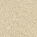 Beige 100% Cotton Patchwork Fabric Nutex Ponga Koru Abstract Pattern