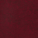 Red 100% Cotton Patchwork Fabric Nutex Ponga Koru Abstract Pattern