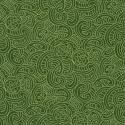 Green 100% Cotton Patchwork Fabric Nutex Ponga Koru Abstract Pattern