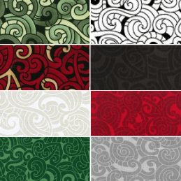 Kiwiana Moko Abstract Swirls Tattoo 100% Patchwork Cotton Fabric (Nutex)