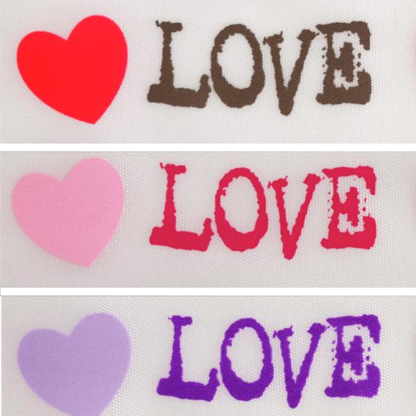 25mm x 3m Love Hearts Valentine Ribbon Pink Celebration