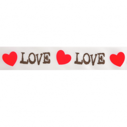 25mm x 3m Love Hearts Valentine Ribbon Multi Colour Celebration