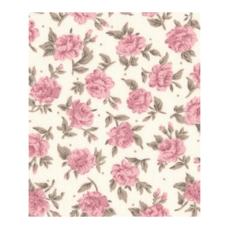 100% Cotton Poplin Fabric Rose & Hubble Deco Blossom Roses Flowers Floral Rose