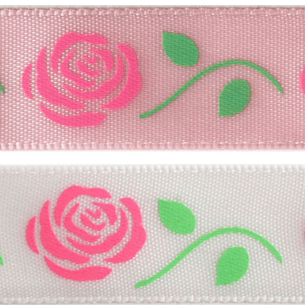 15mm x 3.5m Romantic Roses Ribbon Multi Colour Celebration