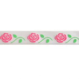 15mm x 3.5m Romantic Roses Ribbon Multi Colour Celebration