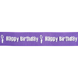 15mm x 3.5m Organza Happy Birthday Candle Ribbon Celebration