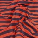 Red / Black Polycotton Fabric Stripe 12mm Candy Stripes