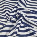 Navy Polycotton Fabric Stripe 12mm Candy Stripes