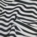 Black Polycotton Fabric Stripe 12mm Candy Stripes