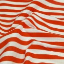 Red Polycotton Fabric Stripe 12mm Candy Stripes
