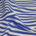 Royal Blue Polycotton Fabric Stripe 12mm Candy Stripes