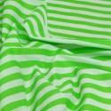 Lime Green Polycotton Fabric Stripe 12mm Candy Stripes