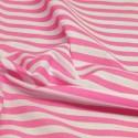 Pink Polycotton Fabric Stripe 12mm Candy Stripes