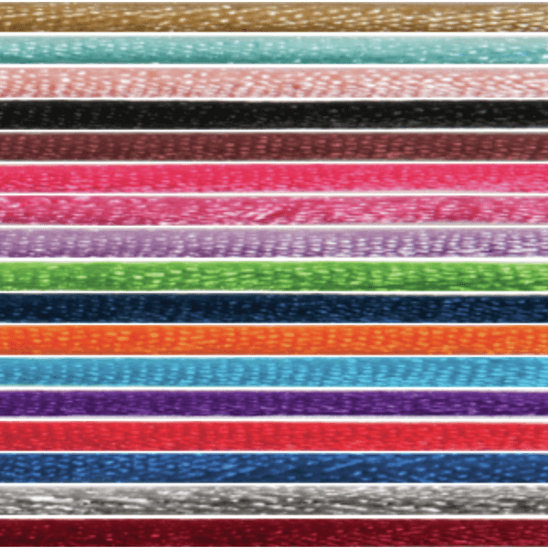 2mm x 10m Knot Cord Shiny Lace Ribbon Multi Colour Celebration