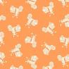 Vacation Tonal Scooters Orange Holidays 100% Patchwork Cotton Fabric (Makower)