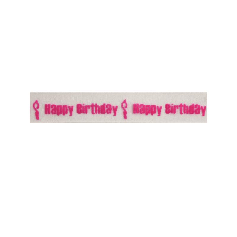15mm x 3.5m Happy Birthday Candle Burning Ribbon Multi Colour Celebration